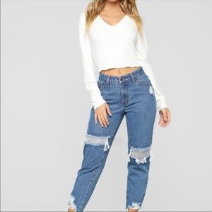 Fashion Nova jeans boyfriend jeans NEW sparkle